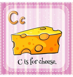 Flashcard letter c is for cheese vector