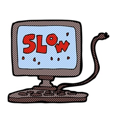 Comic cartoon slow computer vector