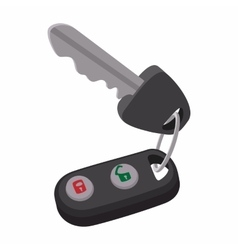 Auto key with remote control vector