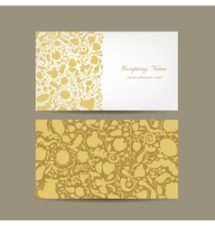 Business card floral design vector