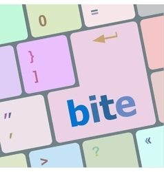 Bite enter button on computer pc keyboard key vector