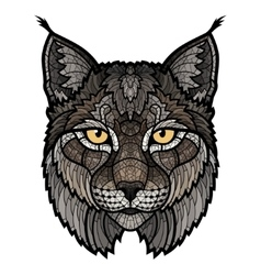Wildcat lynx mascot isolated head vector