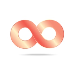 Abstract infinity sign vector