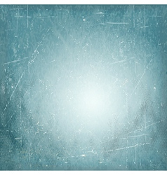 Blue scratched vintage vignette background vector image vector image