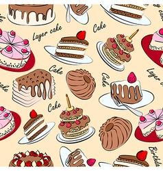 Cake seamless vector image