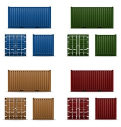 cargo container 103 vector image vector image