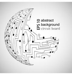 Circuit board world vector