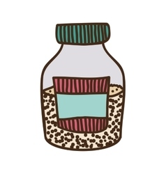 Colorful half bottle with salt and pepper vector