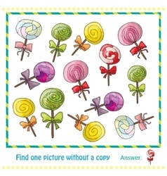 Colorful lollipops in hand drawn style game vector