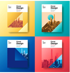 Cover book designfuture business template vector