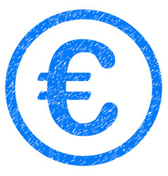 Euro coin grunge icon vector