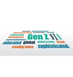 gen z characteristics vector image vector image