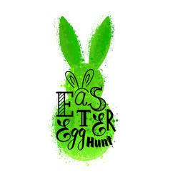 Grunge green bunny vector