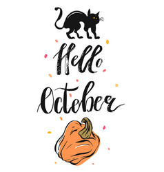 hand drawn autumn vector image