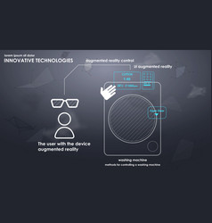Innovative technologies in the washing machine vector