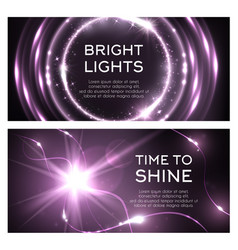 Light effect of shine flash beams burst vector