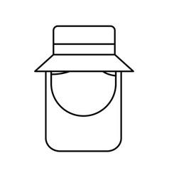 little gardener character icon vector image