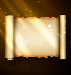 magic scroll vector image