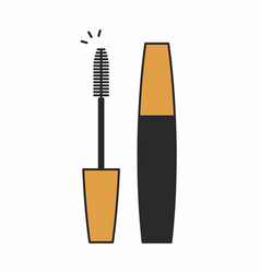 Mascara for eyelashes icon vector