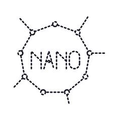 Nano molecular structure monochrome silhouette vector