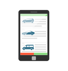 Online rent car business concept vector