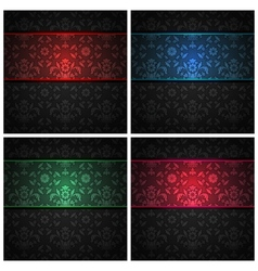 ornament fabric texture vector image vector image