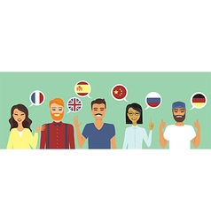 People speaking different languages vector