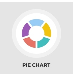 Pie chart icon flat vector image vector image