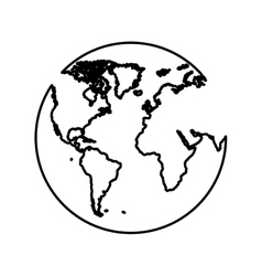 Planet earth pictogram icon image vector