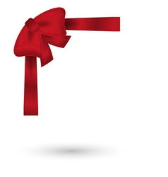 Red elegant bow vector