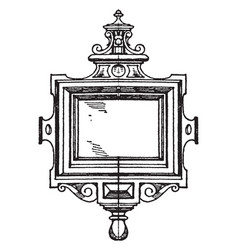 Renaissance strap-work frame was made during the vector