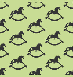 Rocking horse seamless pattern vector