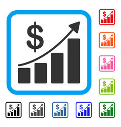 sales growth framed icon vector image