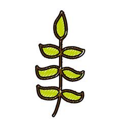 Scribble bush cartoon vector