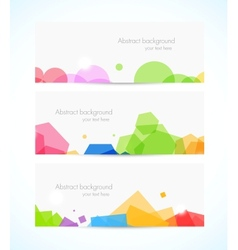Set of geometric banners vector