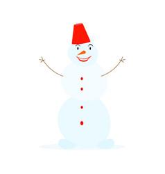 snowman character vector image