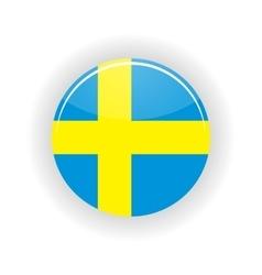 Sweden icon circle vector image vector image