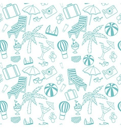 Travel seamless pattern vector image