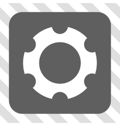 Gear Rounded Square Button vector image