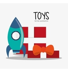 Rocket toy and game design vector