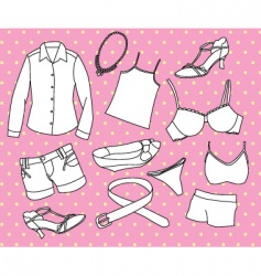 girls clothing vector image
