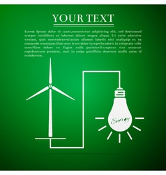 Wind mill turbine generating power energy and vector