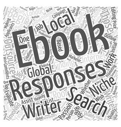 Finding a writer for your niche ebook word cloud vector