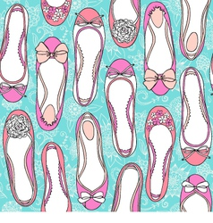 Flat shoes seamless pattern vector