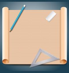Architect squared paper vector