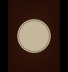 Brown creative cover vector image