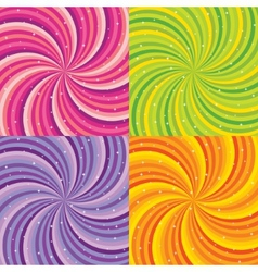 Shiny abstract background - orange green pink and vector image