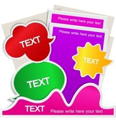 colorful bubble for speech website element vector image