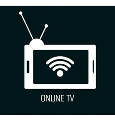 Tv online design vector