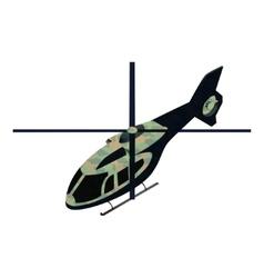 Isometric military helicoper vector image